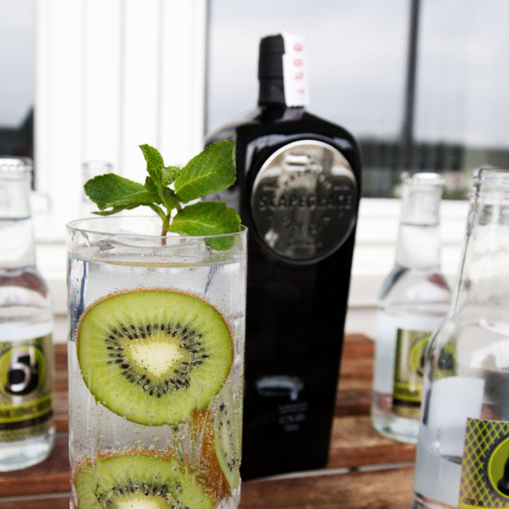 Scapegrace G&T with kiwi and mint